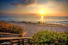East Coast Sunrise from Carlin Park Jupiter Florida