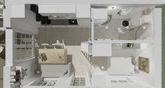 Den Vita Drömgården: 30 kvm fritidshus eller framtida Attefallshus Small Apartments, Tiny House, House Plans, Sink, Bathtub, Loft, How To Plan, Bed, Furniture