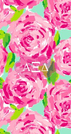 Alpha Xi delta Lilly iPhone background