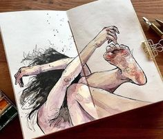 30 Ideas for art sketchbook pages projects Art Inspo, Kunst Inspo, Arte Sketchbook, Sketchbook Pages, Sketchbook Project, Sketchbook Ideas, Art And Illustration, Medical Illustration, Illustration Fashion
