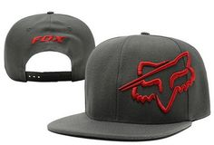 Fox Snapback Grey Red|only US$20.00 - follow me to pick up couopons.
