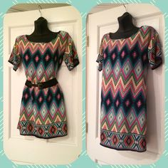 40% OFF SALEFlawless Print Tunic Belt Not Included.  Only Dress Can be worn alone or with leggings. Flawless Tops Tunics