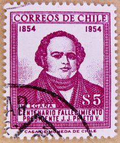 old vintage stamp Chile 5.00 S 5p Mariano Egaña 1793-1846 postage correos de Chile stamps poste-timbres sellos selos Briefmarken Chile porto franco francobolli