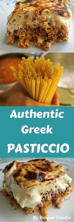 Prepare this Authentic Greek Pasticcio to bring a bit of Greece to your table! #pasticcio #pastitsio #Mediterranean #GreekRecipes #Greek #AuthenticRecipes #belgianfoodie