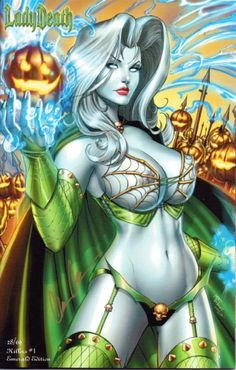 SCOTT CAMPBELL /& SIGNED /& BRIAN PULIDO By J GOTHIC ART PRINT LADY DEATH