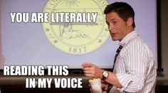 chris traeger you are literally reading this in my voice - Google Search