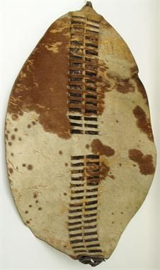 Africa Classical Form Shield From The Zulu Shield From South Africa Cowhide Ca 1947