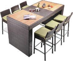 Creative Living Fiji 7 Piece Dining Set with Cushions