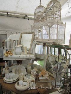 I love Theresa's white display!!  Margburger Spring Show ~ White Display
