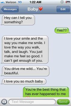 Cute romantic texts to girlfriend or boyfriend