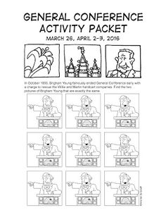 Mormon Cartoonist: Your April 2016 General Conference Activity Packet