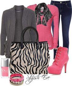 rosado y negro.....INCREIBLE