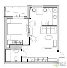 Фотографии [96082]: Перепланировка однокомнатных квартир, новостройки. от дизайнера Валерия Доронина