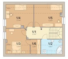 Rzut ARN Tamarillo CE Malaga, Floor Plans, Empire, Image, Architecture, Floor Plan Drawing
