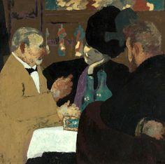 bofransson: At The Café (1898-99) byEdouard Vuillard