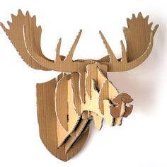 Not that I'll have the time, but if I did -- DIY Cardboard Box Moose Head Wall Hanging