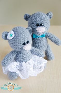 Bears - Weeding Couple Amigurumi  Crochet
