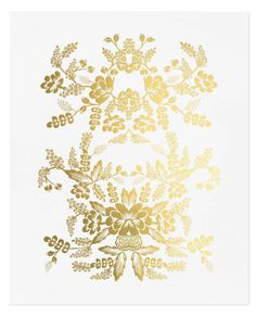 I love the gold on this art print by Rifle Paper co. It is absolutely glamorous.