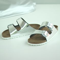 #birkenstock #schuhe #silber #shoes #silver #glamour
