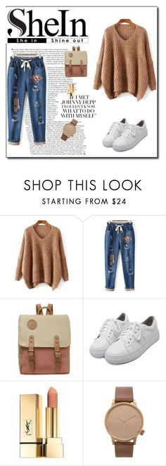 """""""SheIn 4/VIII"""" by nermina-okanovic ❤ liked on Polyvore featuring WithChic, Komono and shein"""