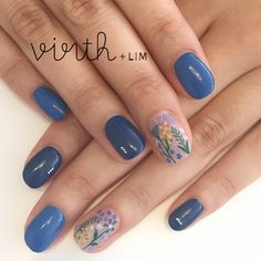 BLUE × FLOWERS* 担当桑原 @rika_mi virthlimnailショートネイル大人ネイルネイルクワハラ