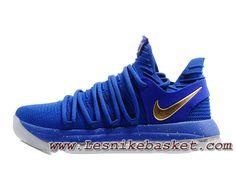 be75bab932df Basket Nike KD 10 Bleu Or Chausport Nike Kd Release 2017 Pour Homme