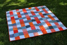 Quilting is more fun than Housework...April 2014 Two Color Weave Scrap-A-Palooza quilt