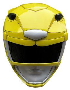 MMPR Yellow Ranger Helmet Render by RussJericho23.deviantart.com on @deviantART