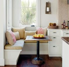 corner breakfast nook cushions ideas
