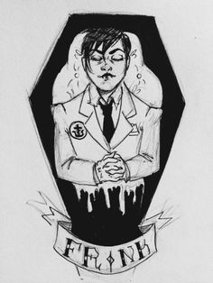 colorfulkilljoy: Day 4: Vampire. Frank Iero fan art.