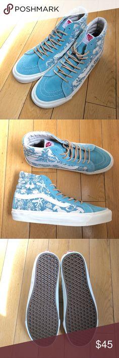 1b82c9b383c7 Vans Originals Sk8-Hi Light Blue Suede Vans Originals Sk8-Hi Light Blue  Suede