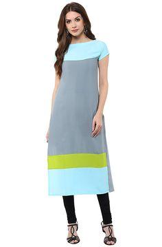 b11c43bebb4 Janasya Women s Polyester Crepe Kurta  Amazon.in  Clothing   Accessories