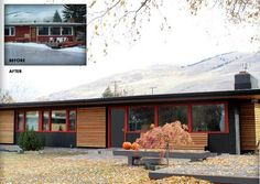 Curb Appeal: Putting The Modern Back in Mid-Century. Like the wood panels.