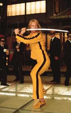 The Bride (Uma Thurman) Kill Bill Vol. 1 Written/Directed by Quentin Tarantino Death Proof, Daryl Hannah, Mia Wallace, Chiba, Reservoir Dogs, Sean Penn, Pulp Fiction, Great Films, Good Movies