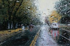 Incredibly Realistic Rainy Day Paintings by Karen Woods