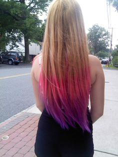 dip dyed hair | Tumblr i wish i could do this..