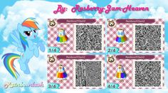 animal crossing qr code: RainbowDash by Rasberry-Jam-Heaven
