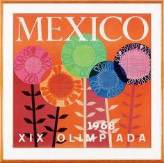 Poster Olímpico. México 1968. Juegos de la XIX Olimpiada. Mexico 1968 Olympic Poster.