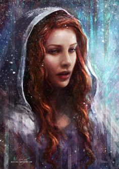 swiftsnowmane:  iwestling:   The North Remembers by Westling  My rendition of Sansa Stark from the books.  Oh my god, headcanon accepted!