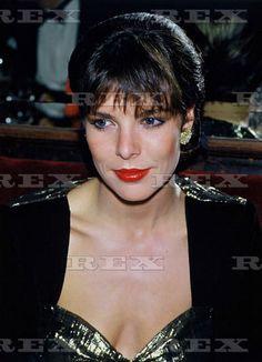 Princess Caroline of Monaco attends Marc Bohan's party at 'Maxim's' Restaurant, Paris.January 28,1985.