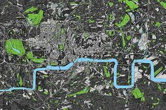 metrography topology of London reshaped according to the underground map - Benedikt Groß and Bertrand Clerc