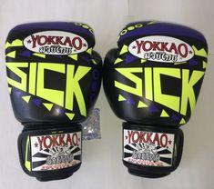 12 oz YOKKAO Sick Muay Thai MMA Boxing Gloves Real Leather Mma Boxing, Boxing Gloves, Muay Thai, Real Leather, Sick, Sports, Hs Sports, Sport