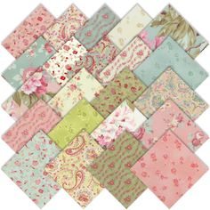 Amazon.com: RJR Robyn Pandolph Love and Liberty Charm Pack, Set of 22 5-inch (12.7cm) Precut Cotton Fabric Squares: Arts, Crafts & Sewing - I must have these!!