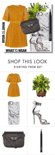 """Date night !!"" by dianagrigoryan ❤ liked on Polyvore featuring Nearly Natural, Casetify, Dsquared2, Valentino and NARS Cosmetics"
