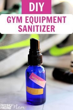 Homemade Sanitizer For Yoga Mat and Exercise Equipment Essential Oil Bug Spray, My Essential Oils, Young Living Essential Oils, Essential Oil Blends, Diy Gym Equipment, No Equipment Workout, Workout Plan For Beginners, Gym Essentials, Workout Machines