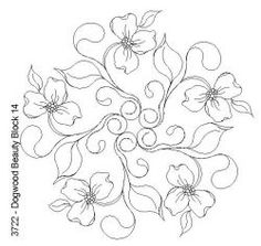 Dogwood Beauty Block 14: Click To Enlarge