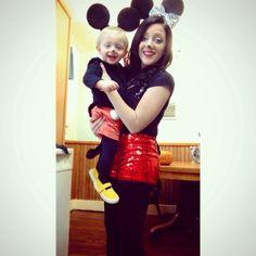 Mother and son halloween costume #mickeyandminniemouse #DIY HALLOWEENCOSTUME