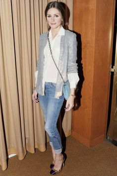 Olivia Palermo Adds A Touch Of Sparkle In A Sequinned Jacket At A Party In New York, 2012