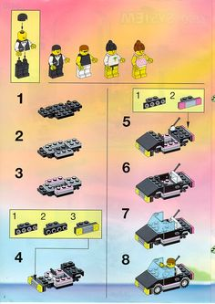 Thousands of complete step-by-step printable older LEGO® instructions for free. Here you can find step by step instructions for most LEGO® sets. Lego Instructions, Lego Sets, Lego Games