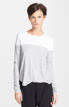 Vince Colorblock Long Sleeve Tee   Nordstrom   Style